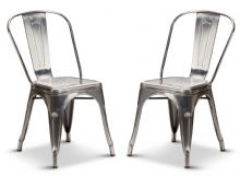 Pair of 2 Steel Industrial Tolix Style Dining Chairs 1/2 Price Deal